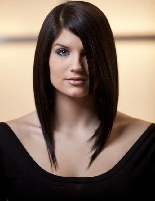 model rambut bob panjang dengan layer untuk wanita berwajah bulat