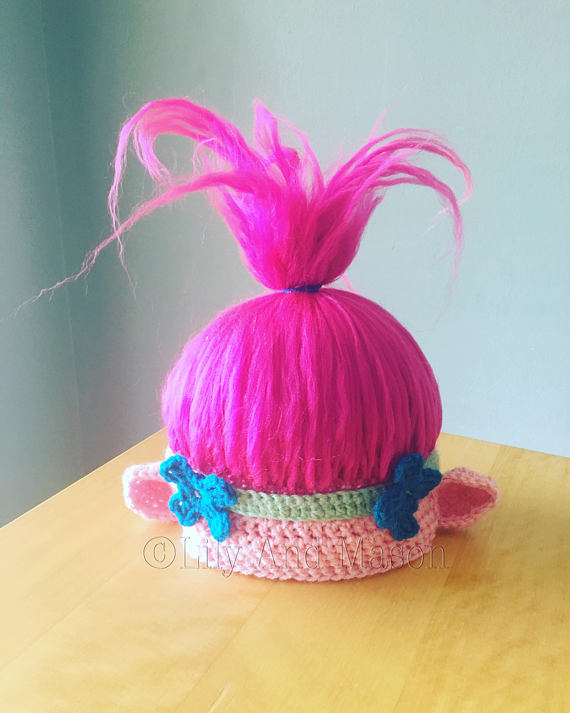 Poppy Troll Hat, PDF Pattern, Poppy, Troll, Troll Hat, Poppy Hat ...