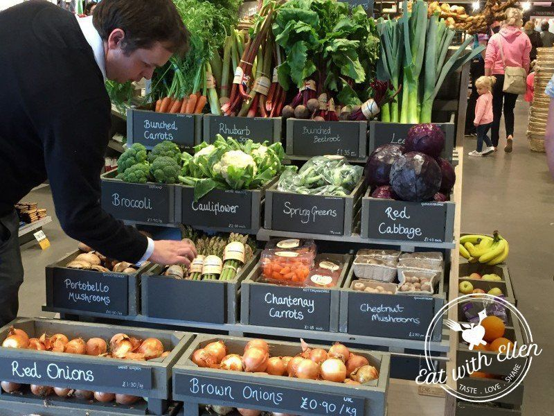Fruit And Veg Display At Gloucester Services Shop Ideas