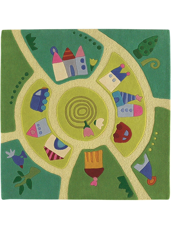 Haba tapis enfants pour chambre d 39 enfants monde du jeu pas cher vert 140x140 cm - Tapis de cuisine maison du monde ...