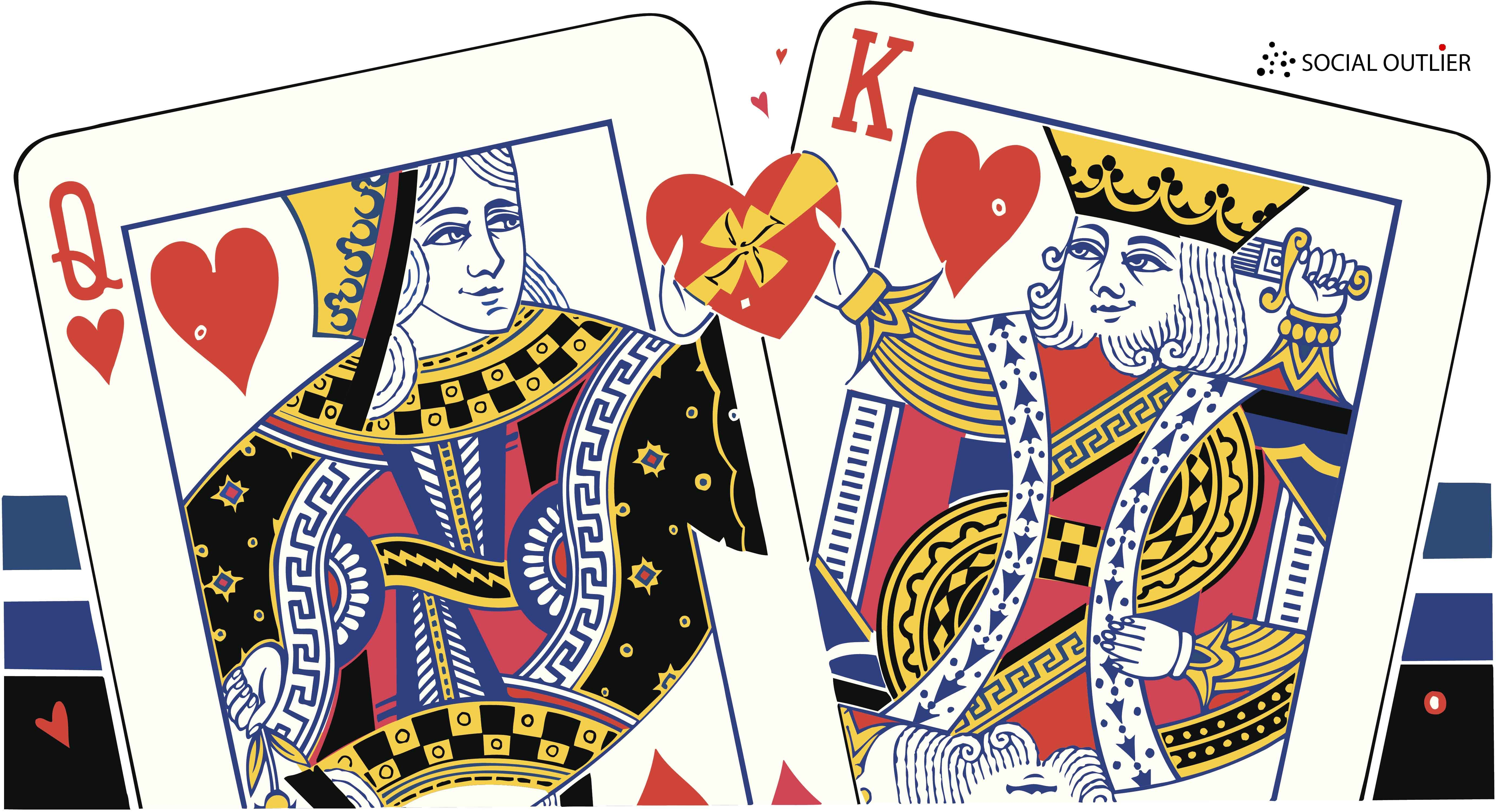 88321964 King of hearts, Queen of hearts, Giving