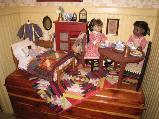 how would it be to have the money and space for all of this? #americanhistory #american #history #girl #dolls #americangirlhouse