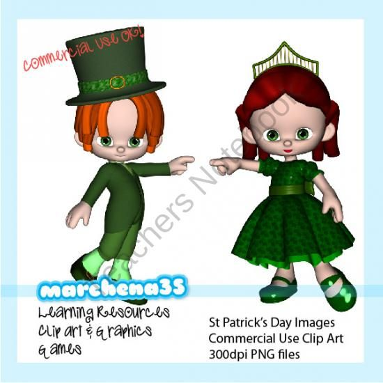 Free St Patrick Clip Art - Commercial Use OK product from Marchena35-Clip-Art on TeachersNotebook.com
