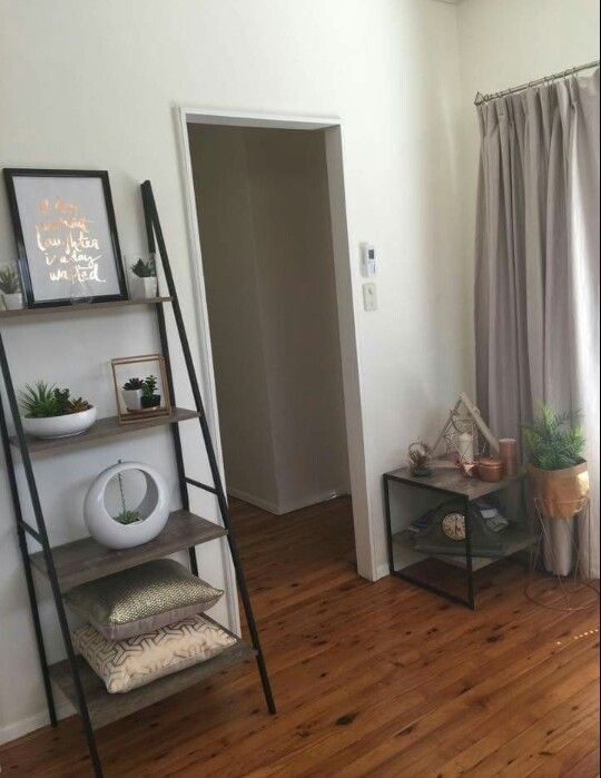 Kmart Living Room Decor: Industrial Ladder And Side Table
