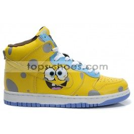 Cartoon nike dunks shoes for kids---spongebob high tops