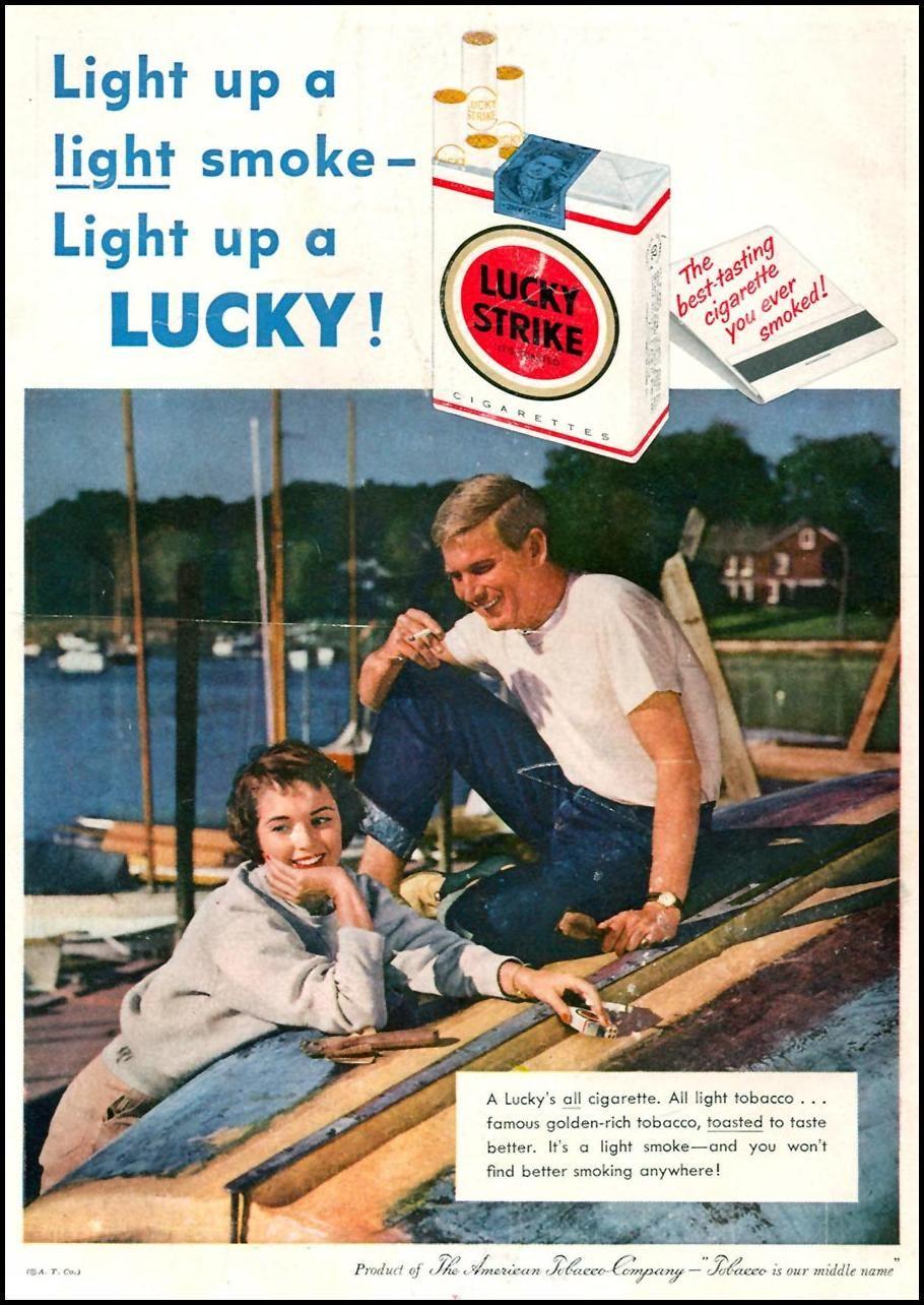 1958 Lucky Strike cigarette ad