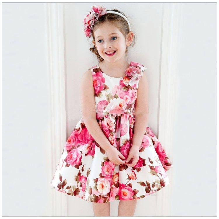 Tamanho: 90 100 110 120 130 Idade: 2-6year | vestidos infantil ...