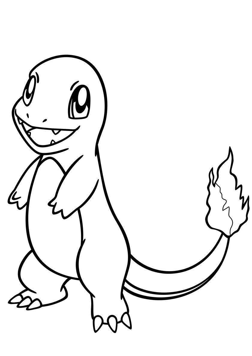 004 Charmander High Quality Free Coloring From The Category Pokemon More Printable Pictures On Our W Pokemon Coloring Pages Pokemon Coloring Coloring Pages