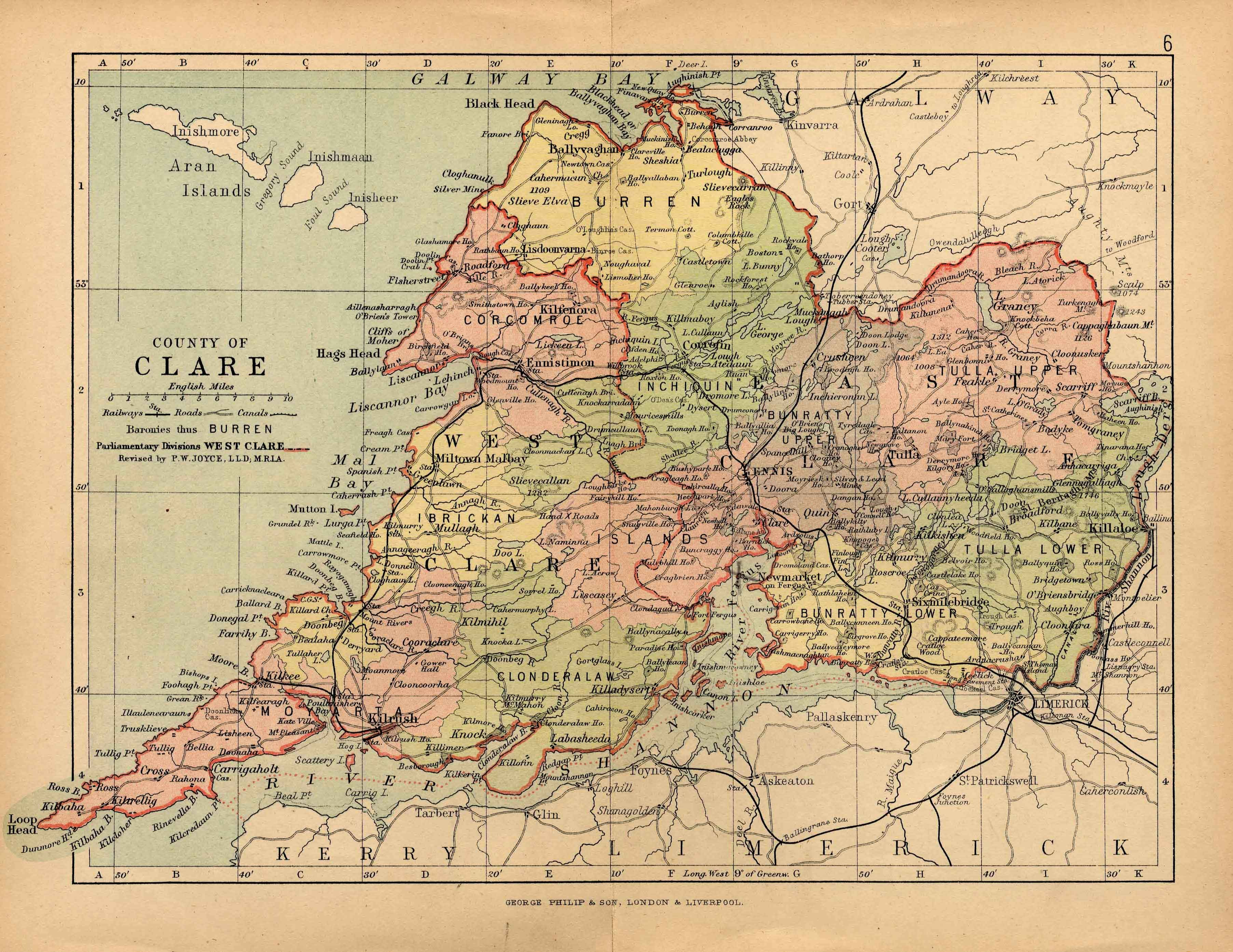 Map Of Ireland County Clare.Clare Genealogy With Images Ireland History County Clare