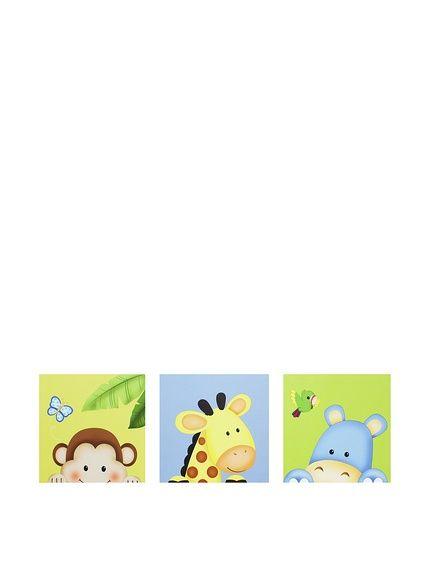 TEAMSON Fantasy Fields Kids' 3-Piece Sunny Safari Canvas Wall Art Set, http://www.myhabit.com/redirect/ref=qd_sw_dp_pi_li?url=http%3A%2F%2Fwww.myhabit.com%2Fdp%2FB00GY57HMY%3F