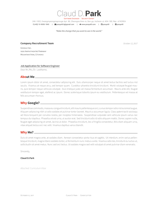 Cover Letter Template Latex 2 Cover Letter Template Pinterest