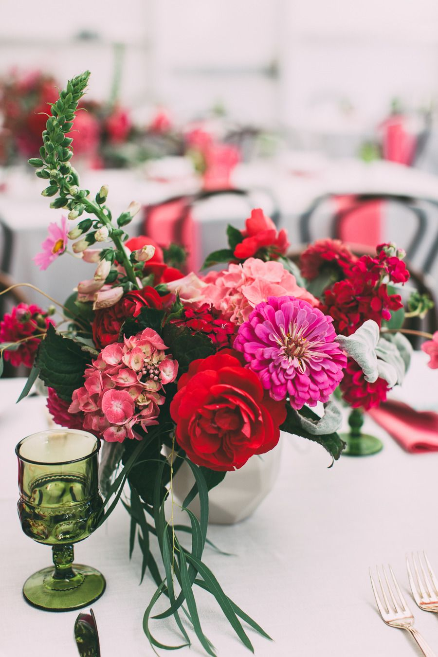 Modern Chic San Francisco Wedding | Centerpieces, Weddings and Flowers