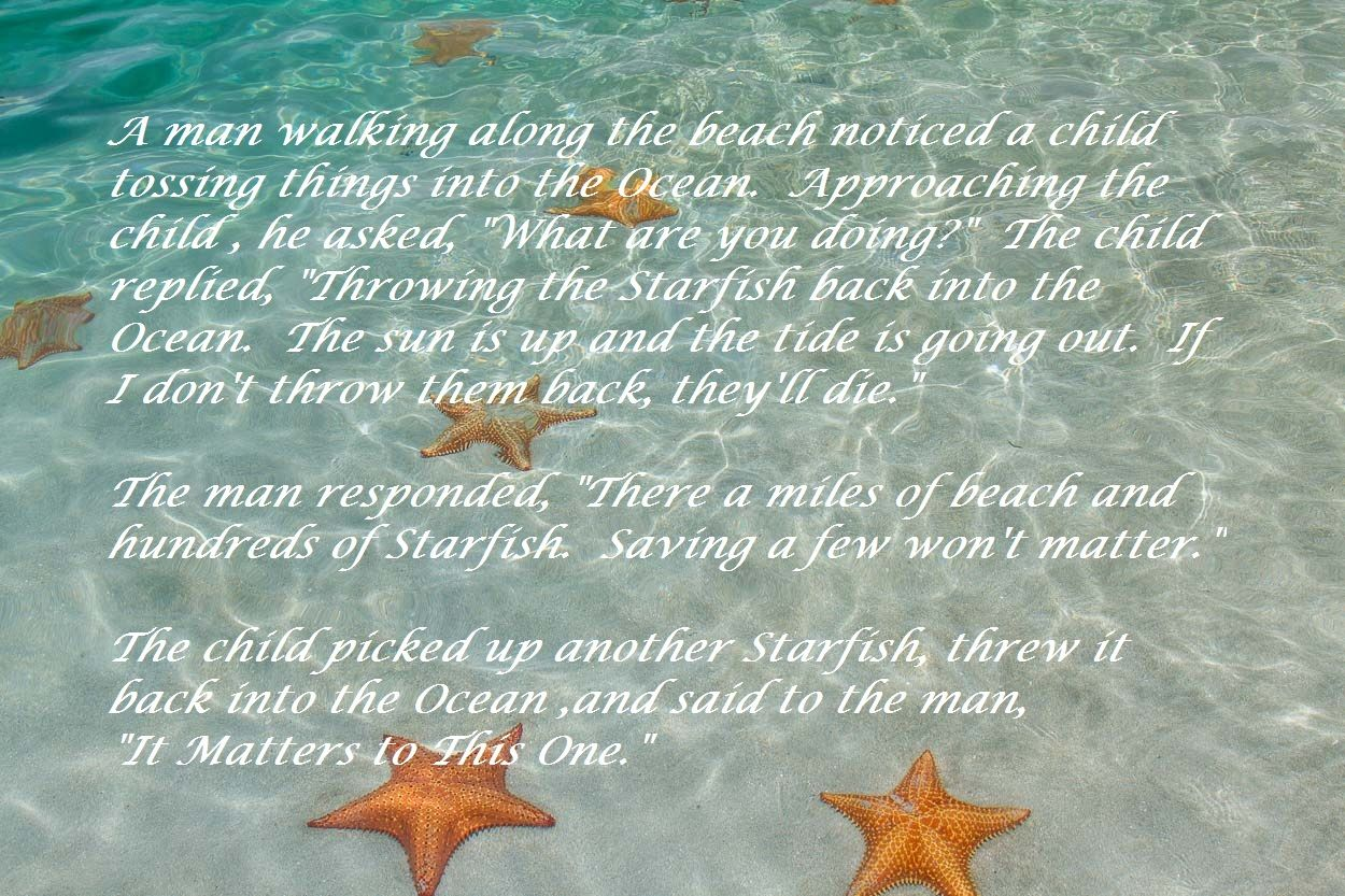 photograph relating to Starfish Poem Printable known as starfish poem developing a change -