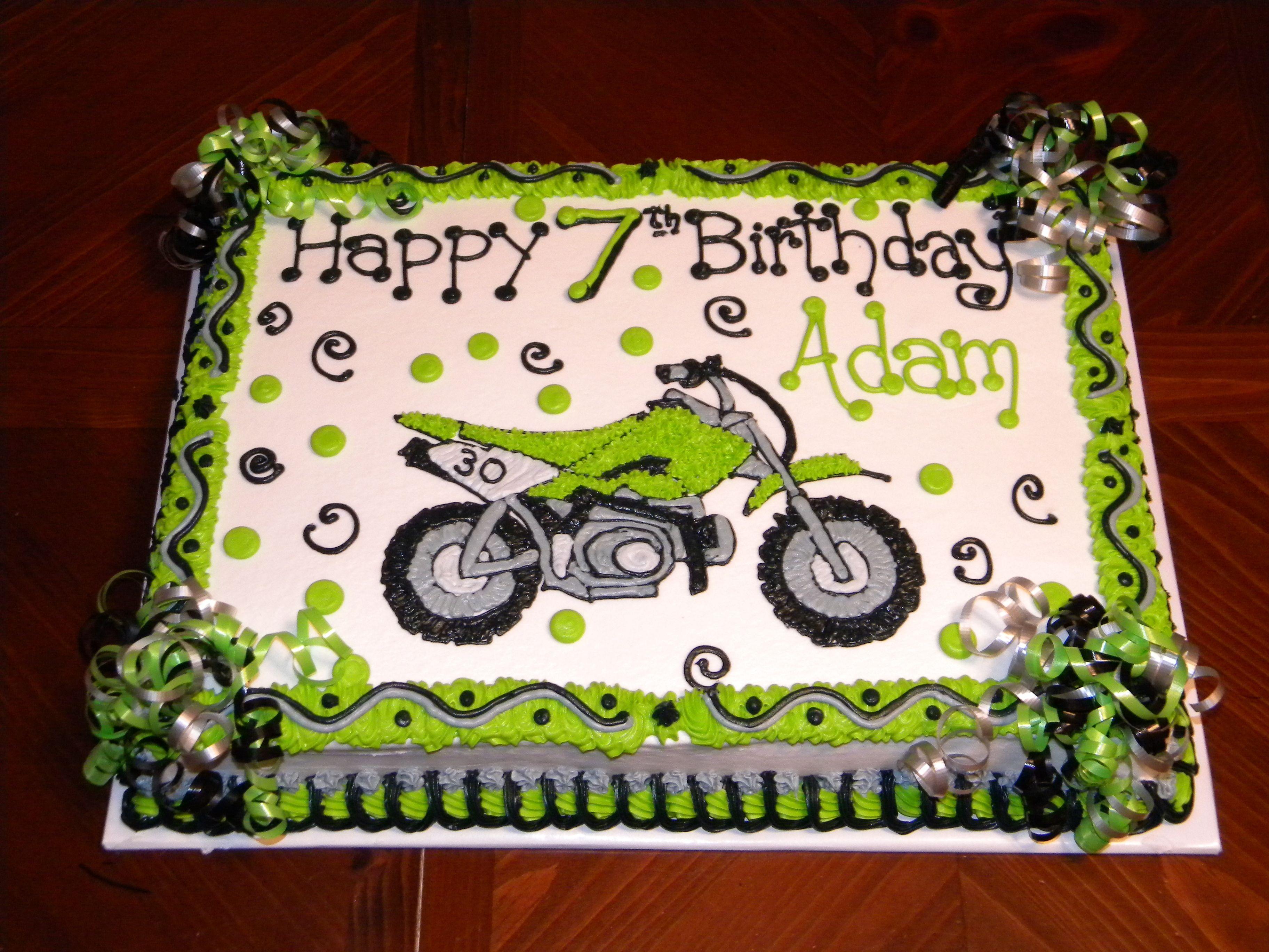Dirtbike Birthday Cake Dirt Bike Cake Childrens Birthday Cakes