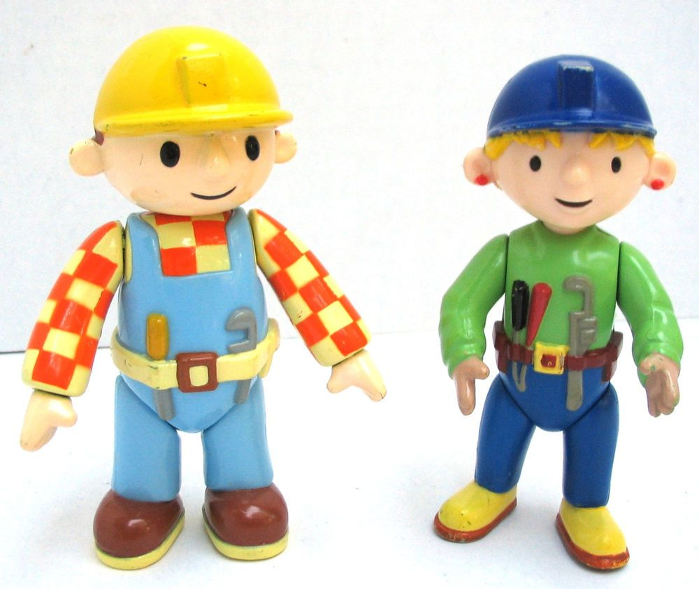 Bob the Builder Wendy and Bob Movable Jointed 4 Inch Toy ...