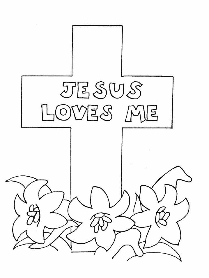 Printable Cross Coloring Pages Kids Bible
