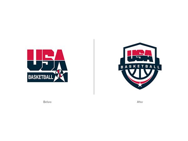 Usa Basketball Logo By Darrin Crescenzi Via Behance Usa Basketball Logo Basketball Logos