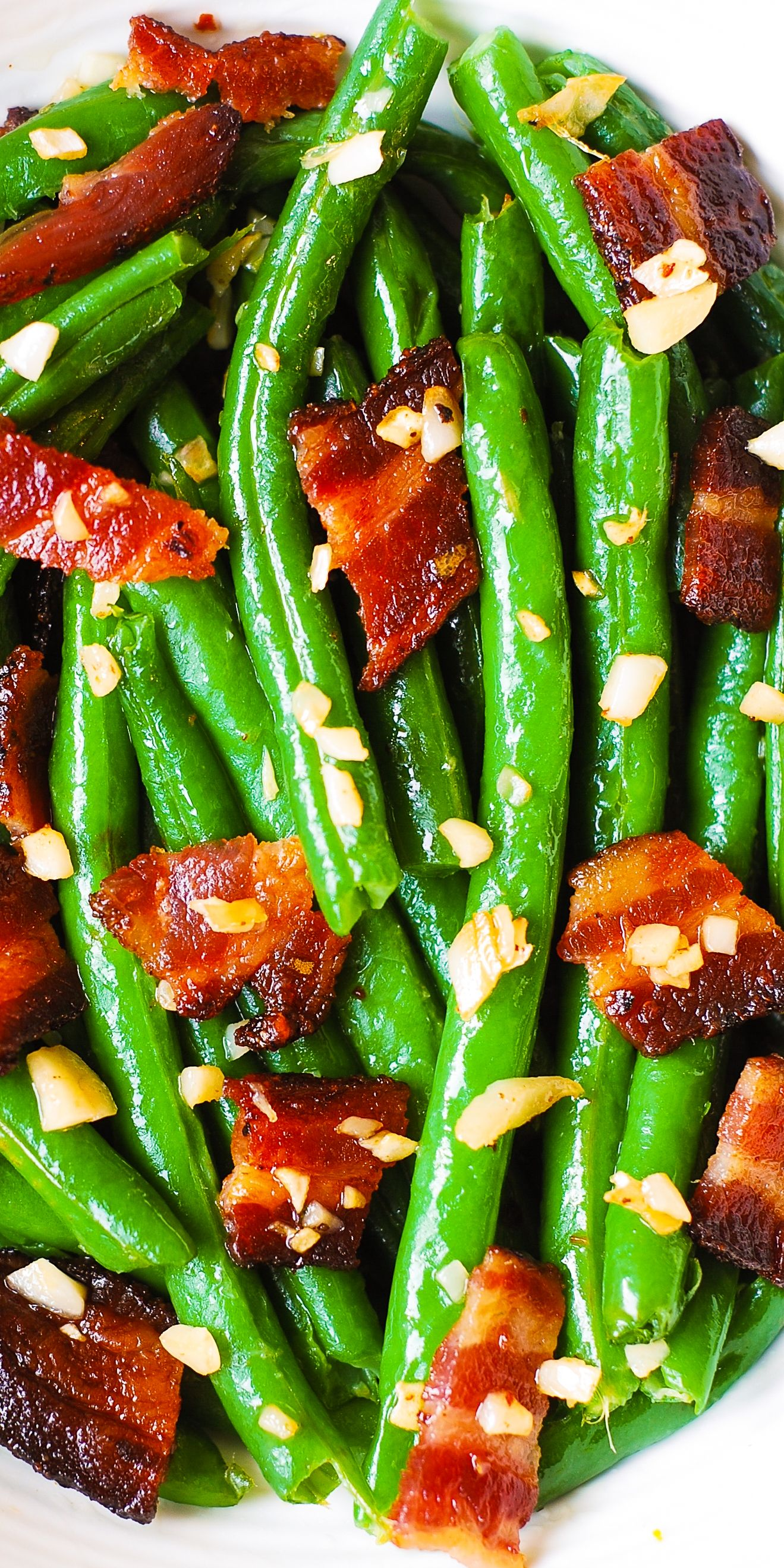 Garlic and Bacon Green Beans Ketogenic side dishes, Low