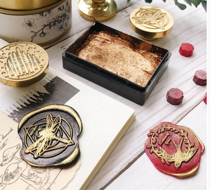 2.5cm Vintage Letter Envelope Classic Invitation Brass Stamp Head Dia Deer DIY Christmas Retro Wax Seal Stamp Head Sealing Wax
