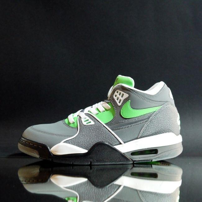 Cheap New Nike Air Flight 89 Cool Grey Poison Green White Black
