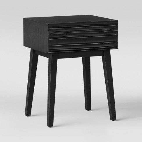 90 Palmetto Cut And Groove Side Table Black Opalhouse Target