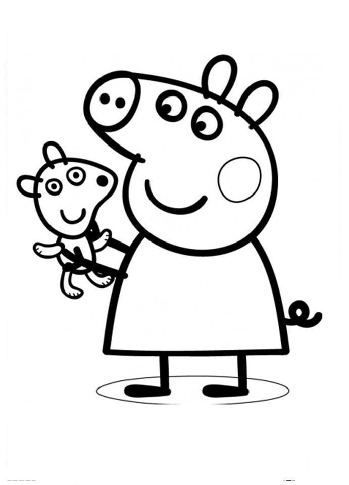 Printable Pig Coloring Pages For Kids