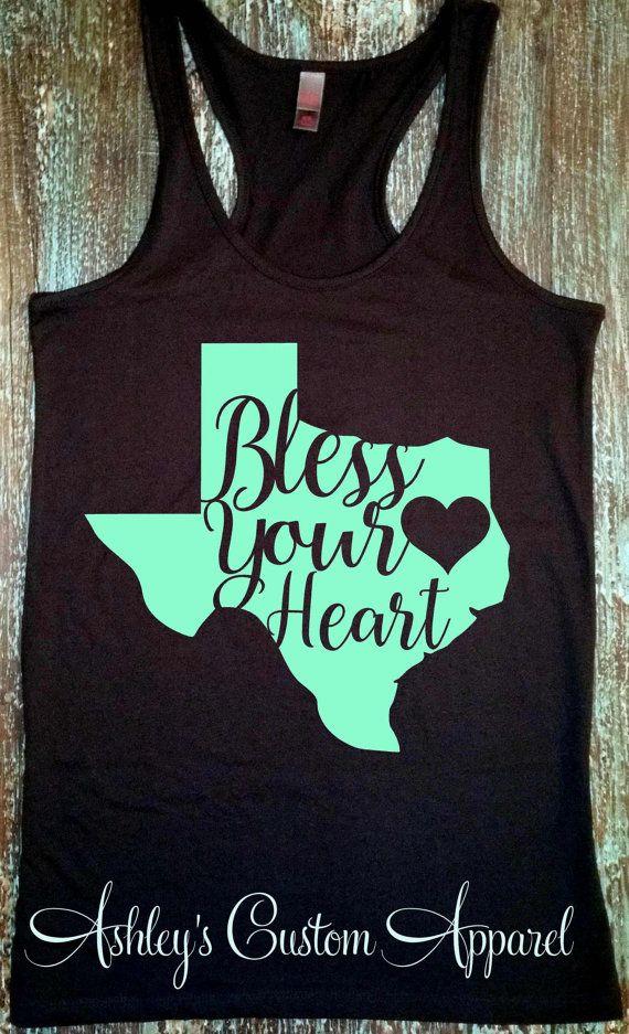 c1ebdfad8ea Bless Your Heart - Texas Shirt - God Bless Texas - Texas State Shirt - Southern  Shirts - Southern Sa