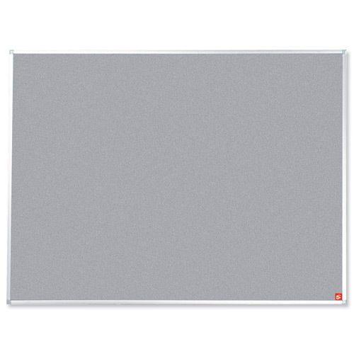 Very Large Grey Felt Fabric Notice Memo Pin Board X  X