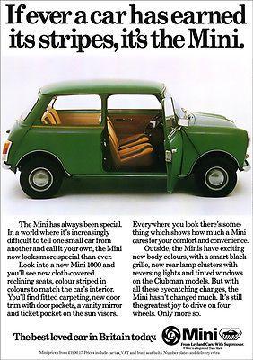 Mini Austin Morris Retro A3 Poster Print From Classic 70 S Advert In Vehicle Parts Accessories Car Manuals Literatu Mini Mini Cars Classic Car Restoration