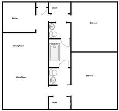 900 sq ft house plans 2 bedroom 1 bath Google Search Small