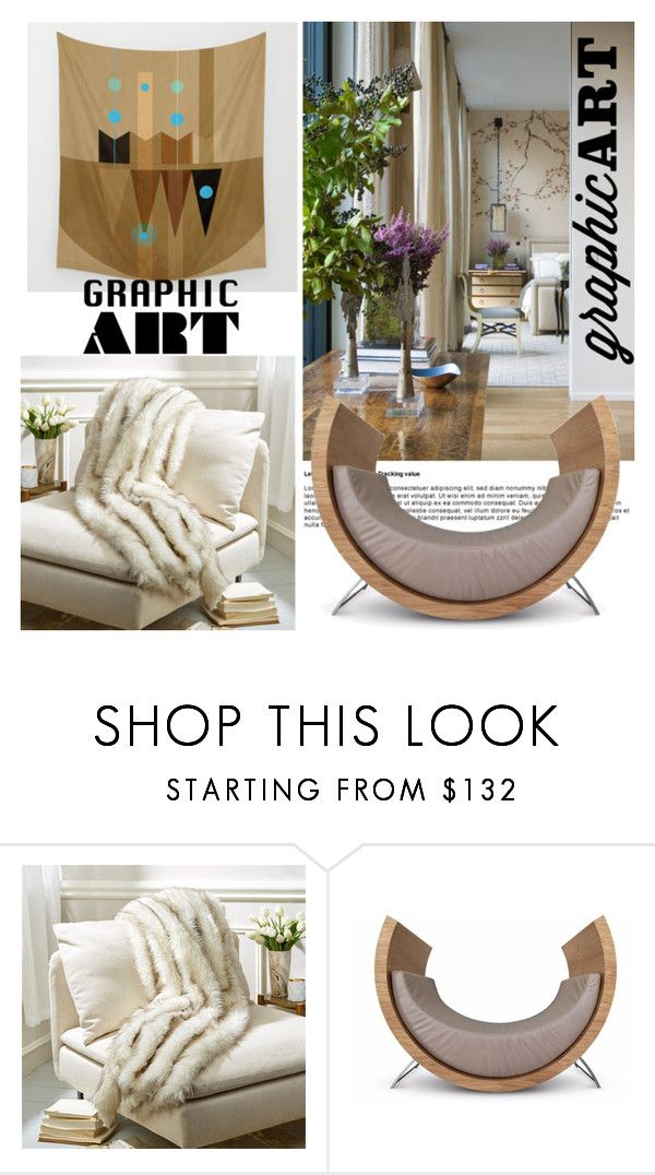 """""""Graphic Art"""" by nicolevalents ❤ liked on Polyvore featuring interior, interiors, interior design, home, home decor, interior decorating and Tozai"""