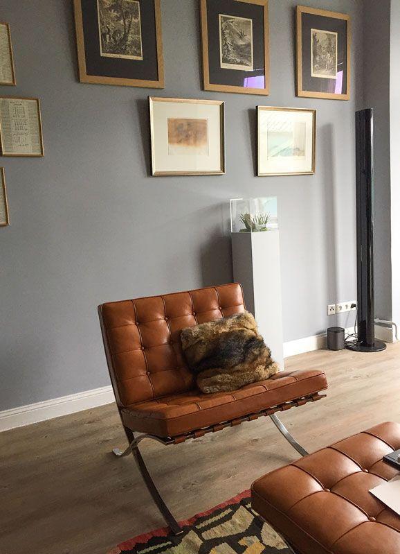 Wohnzimmer in Understatement no 167 #Kreidefarbe #Wandfarbegrau - bilder für wohnzimmer