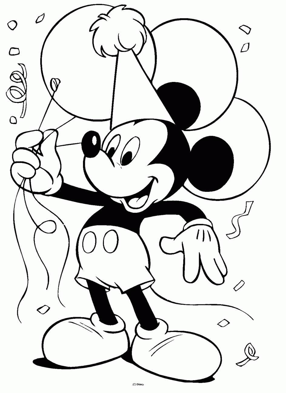 Mickey mouse coloring sheet disney party pinterest birthday