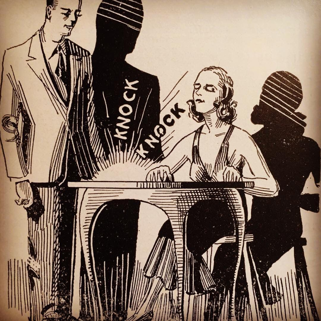 Table Rapping Illustration From The 1942 Nelson Magic Catalog The