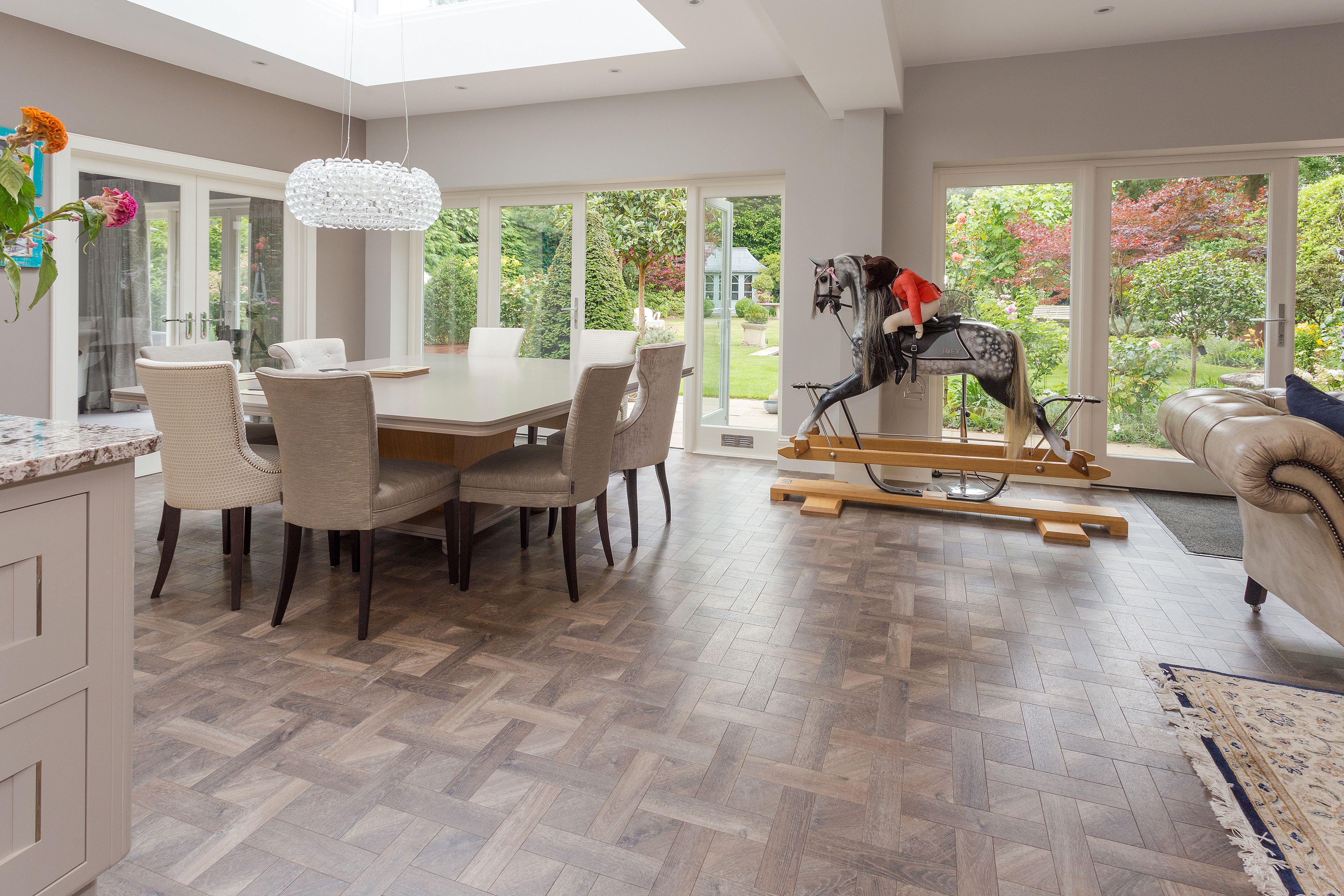 Amtico Signature Basketweave Luxury Vinyl Tile Flooring To Kitchen With Large Island Luxury Vinyl Tile Luxury Vinyl Tile Flooring Carpet Fitting
