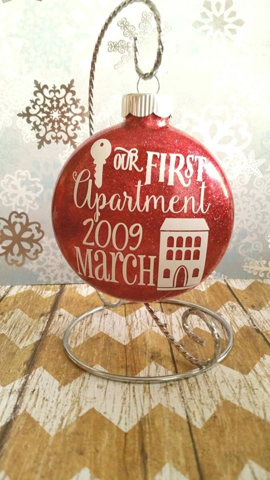 Christmas ornaments first apartment gift glass for First apartment ornament