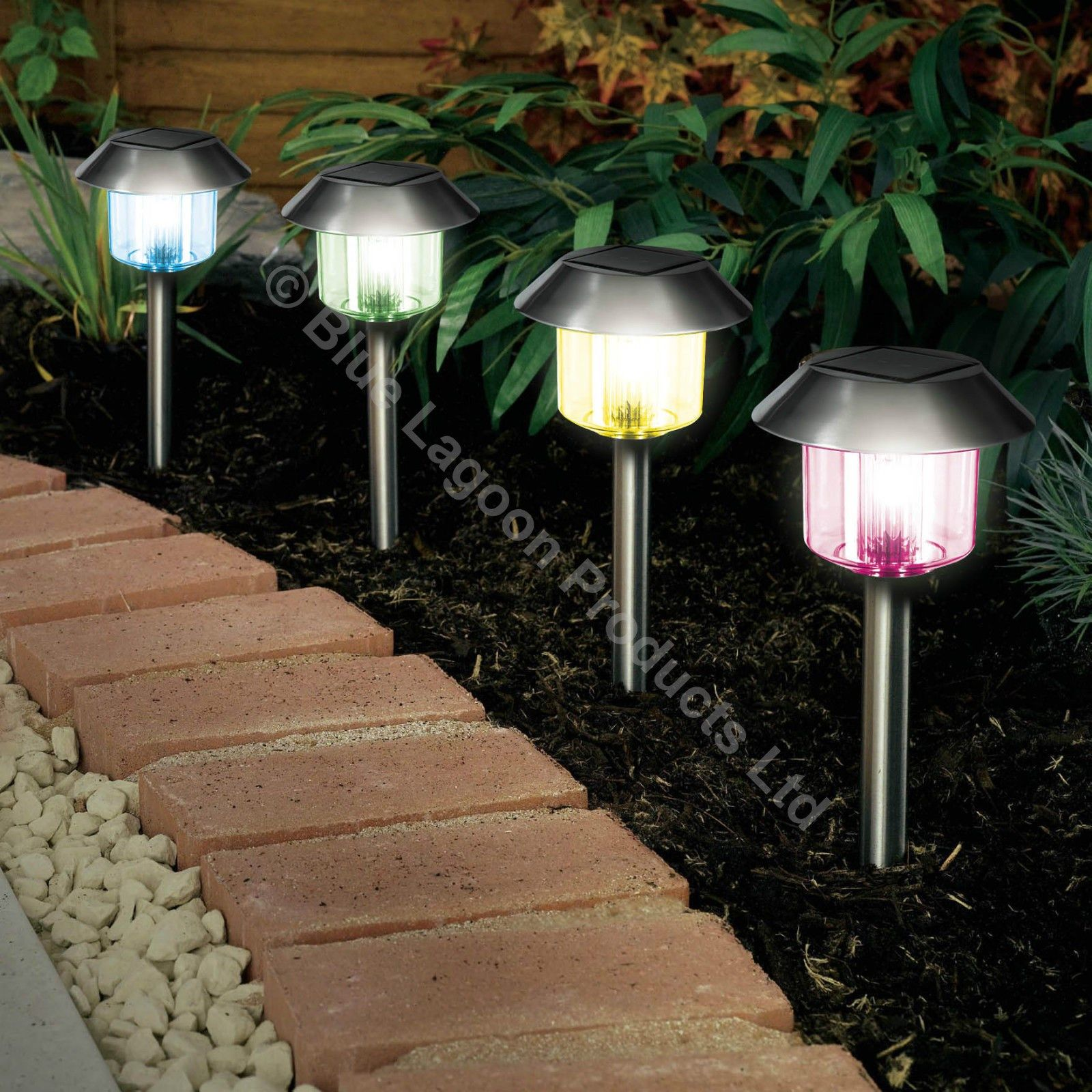 12 X Colour Changing Solar Power Light Led Post Outdoor Lighting Powered Garden In 2020 Solar Powered Garden Lights Solar Lights Garden Outdoor Solar Lights
