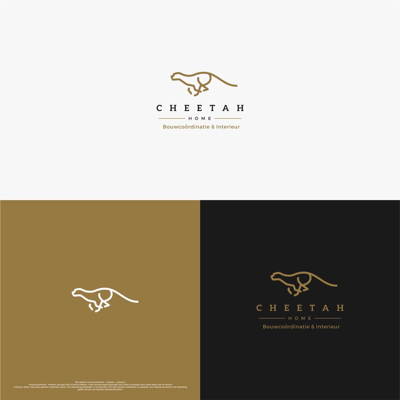 Monoline Logo Of A Cheetah Cartes Agent Immobilier De Visite Uniques Marque