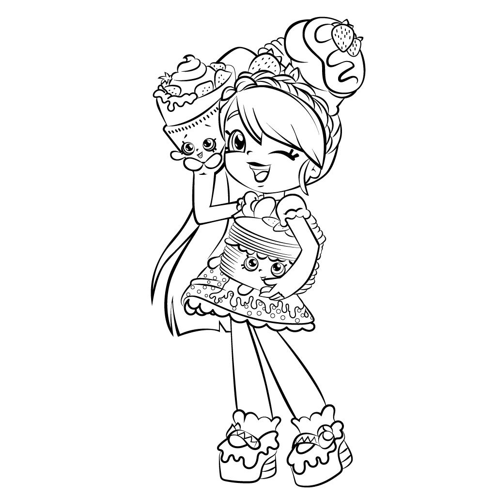 Cute Girl Shopkins Shoppies Coloring Pages Printable And Book To Print For Free Find More Online Kids Adults Of