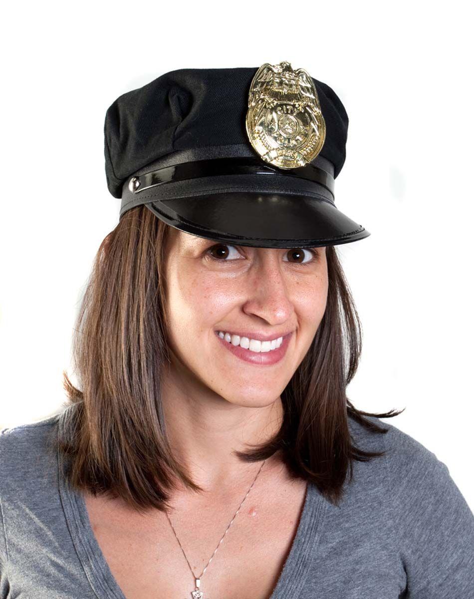 Police Hat Black Spirit Halloween Police hat, Hats