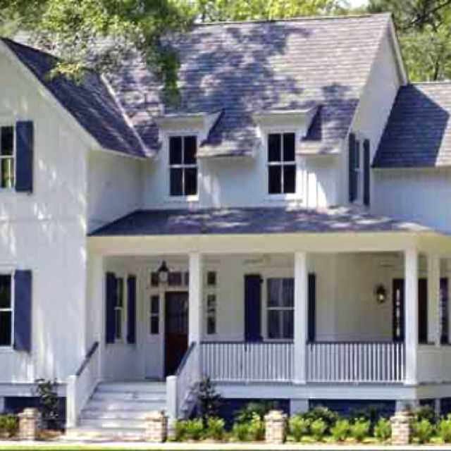 Beautiful House Would Paint The Shutters And Front Door A Couple Cheerful Colours Though Southern Living House Plans Southern House Plans Porch House Plans