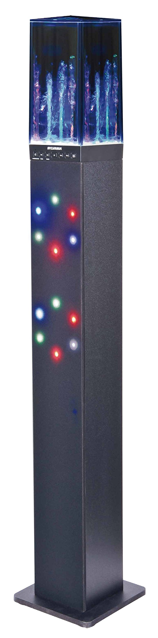 Sylvania Sp349 Light Amp Water Display Bluetooth Tower Speaker Tower Speakers Led Color Changing Lights Sylvania