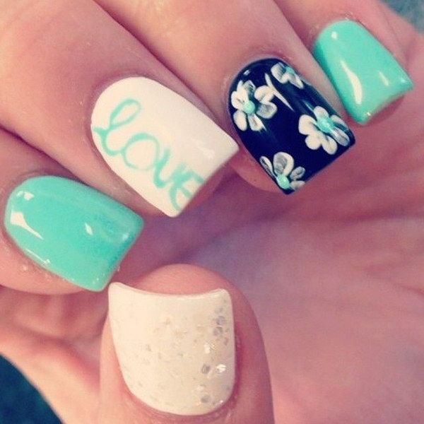 100 Awesome Green Nail Art Designs Nails Pinterest Nails