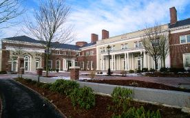 Harvard University S Spangler Center 342 Squares Of North Country Unfading Black Roofing Slate Slate Roof House Styles