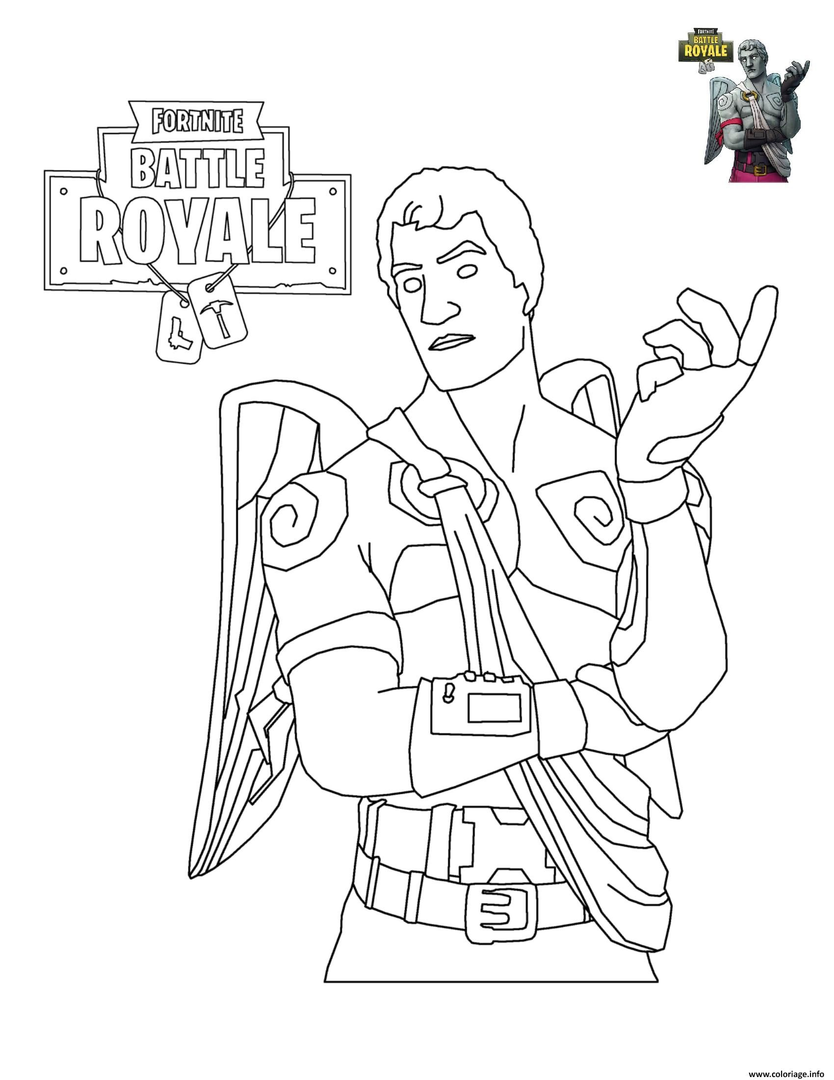 Coloriage Fortnite Battle Royale Personnage 6 à Imprimer