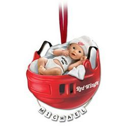 Personalized detroit red wings babys first christmas ornament shop the bradford exchange online for philadelphia flyers personalized babys first ornament there is a philadelphia flyers fan born every day negle Image collections