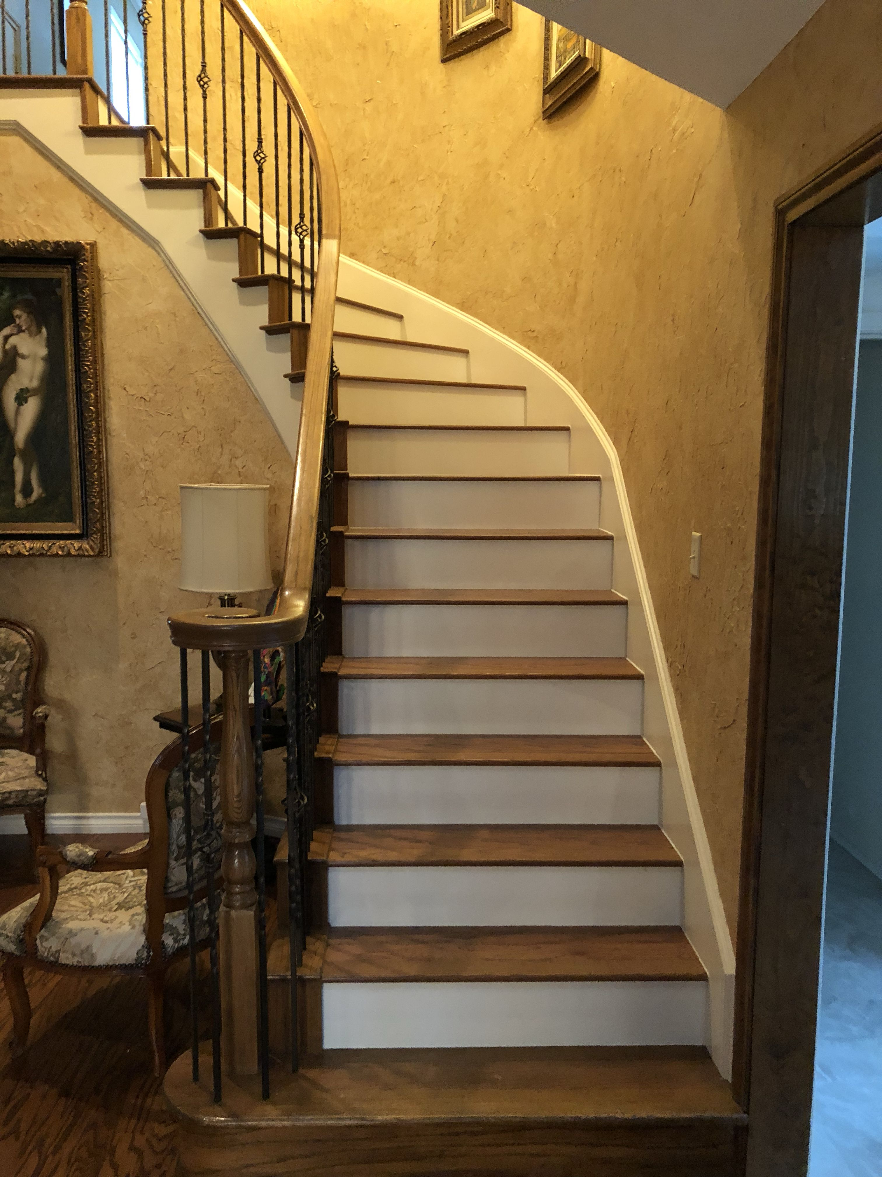 Best Pin By Draper Floors On Stairs White Stair Risers White 400 x 300
