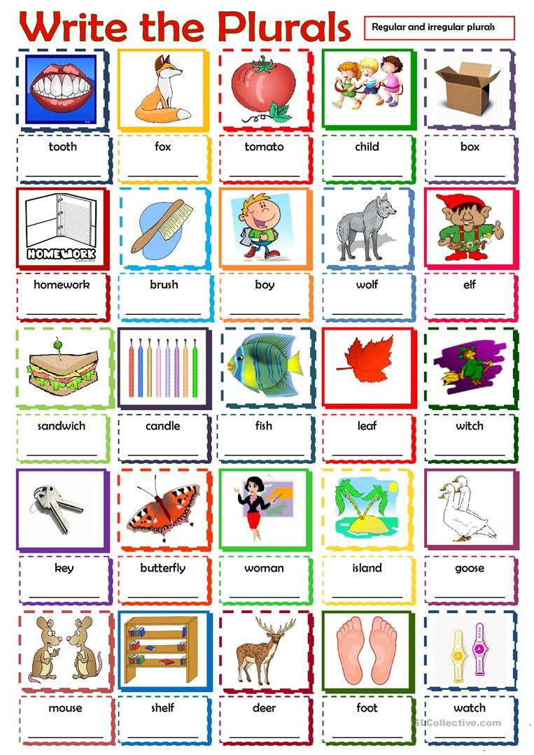 Workbooks making words plural worksheets : Write the Plurals worksheet - Free ESL printable worksheets made ...