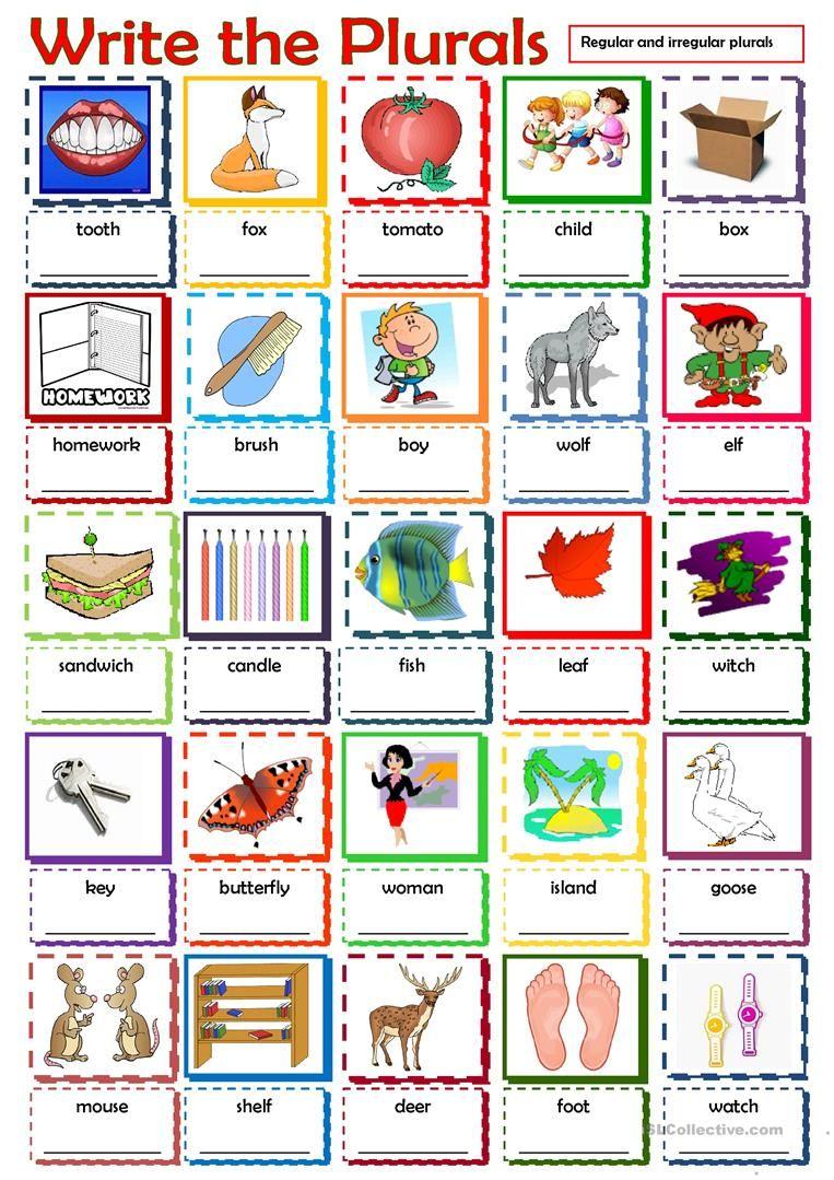 Write The Plurals Worksheet Free Esl Printable Worksheets Made By Teachers Plurals Plurals Worksheets Teaching English [ 1079 x 763 Pixel ]