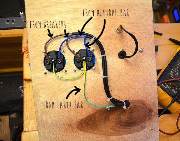 12V electrics and wiring - Vandog Traveller Scotty refurb - k amp uuml chenblock selber bauen